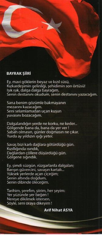 Bayrak şiiri Arif Nihat Asya Ahsen Okyar