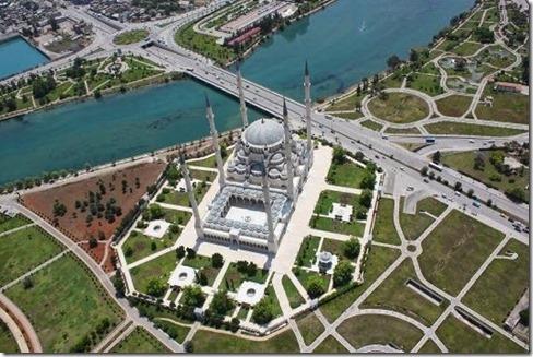 Adana Sabancı Camii Üstten