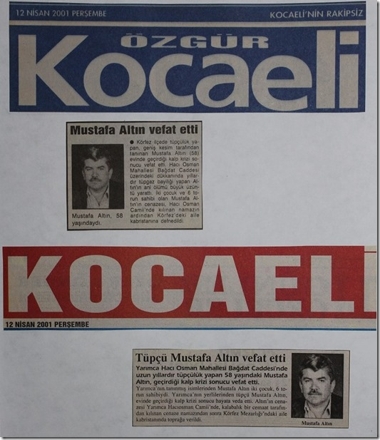 2001.04.12 kocaeli gazeteleri perşembe