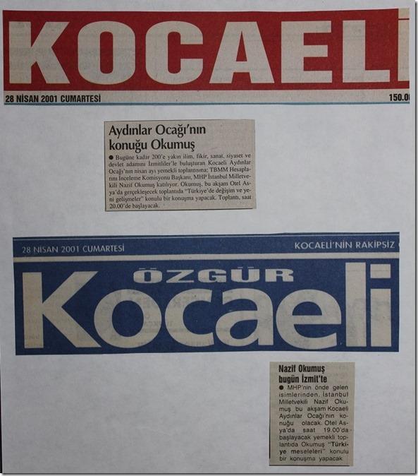 2001.04.28 kocaeli gazeteleri cumartesi
